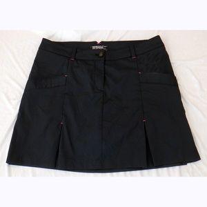 Nike black pinstripe golf skirt